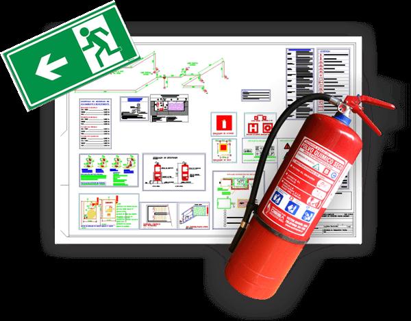 Projeto de prevenção contra incêndio feito pela Engetec em Beagá